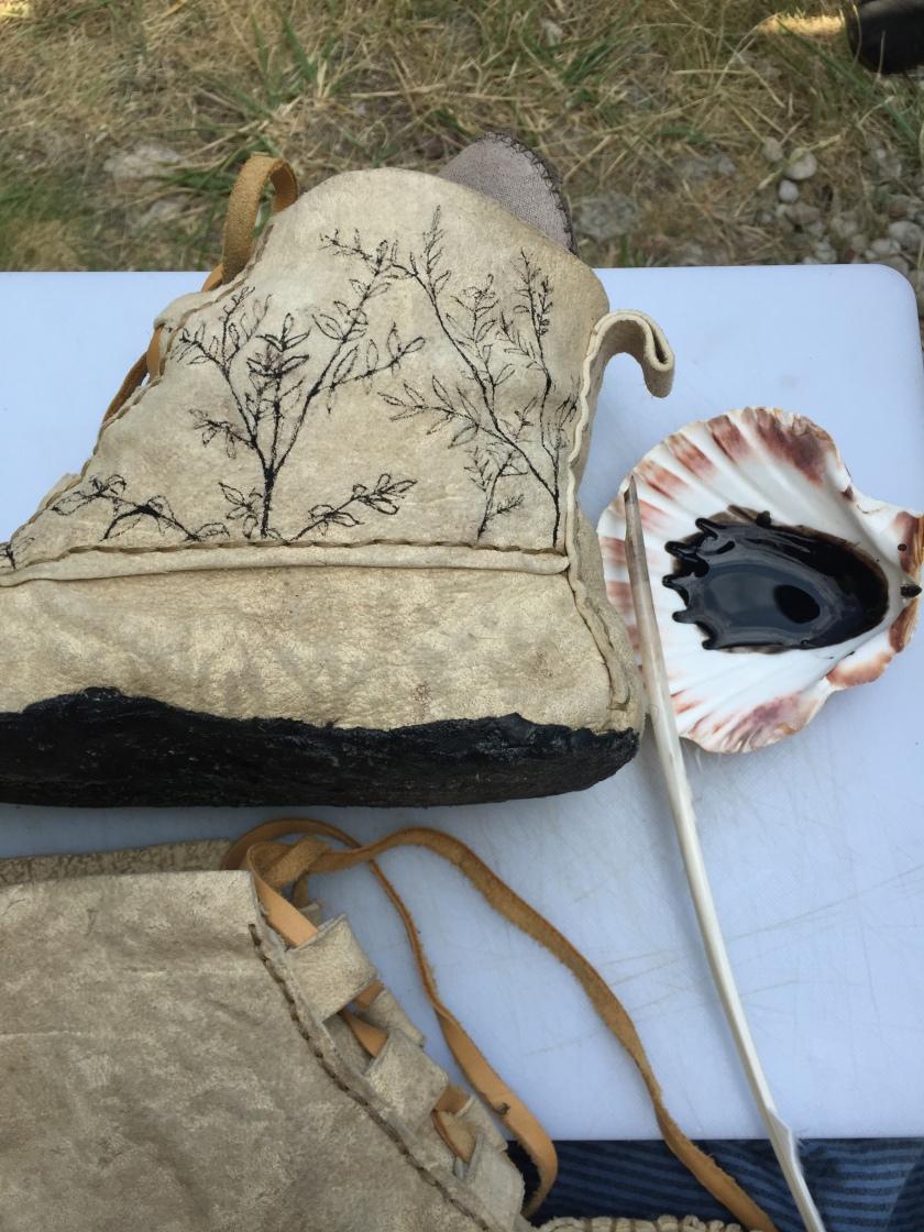 Hand Painted buckskin boots